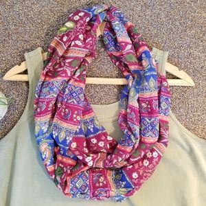 Maurices Pink, Green and Blue Infinity Scarf NWOT